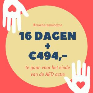 AED actie heeft nog 16 dagen te gaan!
